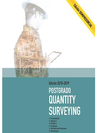 Postgrado en Quantity Surveying del Colegio de Barcelona