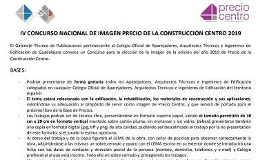 IV Concurso nacional de imagen precio de la construcción centro 2019