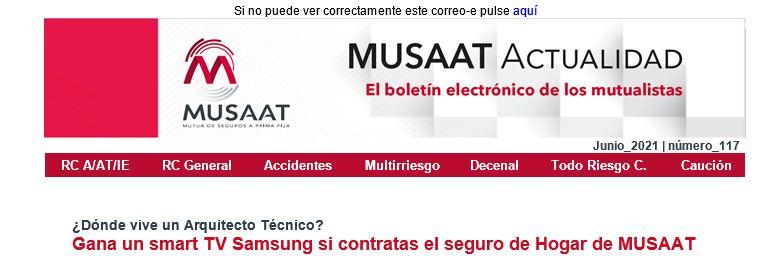¿Dónde vive un Arquitecto Técnico? Gana un smart TV Samsung si contratas el seguro de Hogar de MUSAAT